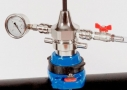 Threaded tee saddle with drilling machine